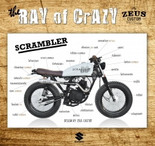SUZUKI GD110 SCRAMBLER : The Ray of Cracy by Zeus